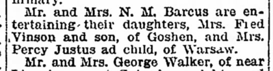 Twiggy had a son? - Jefferson Jane Mrs. Mr. and Mrs. N. M. Barcus...