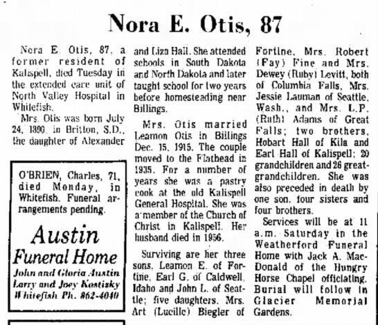 - Nora E. Otis, 87 Nora E. Otis, 87, a f o r m e...
