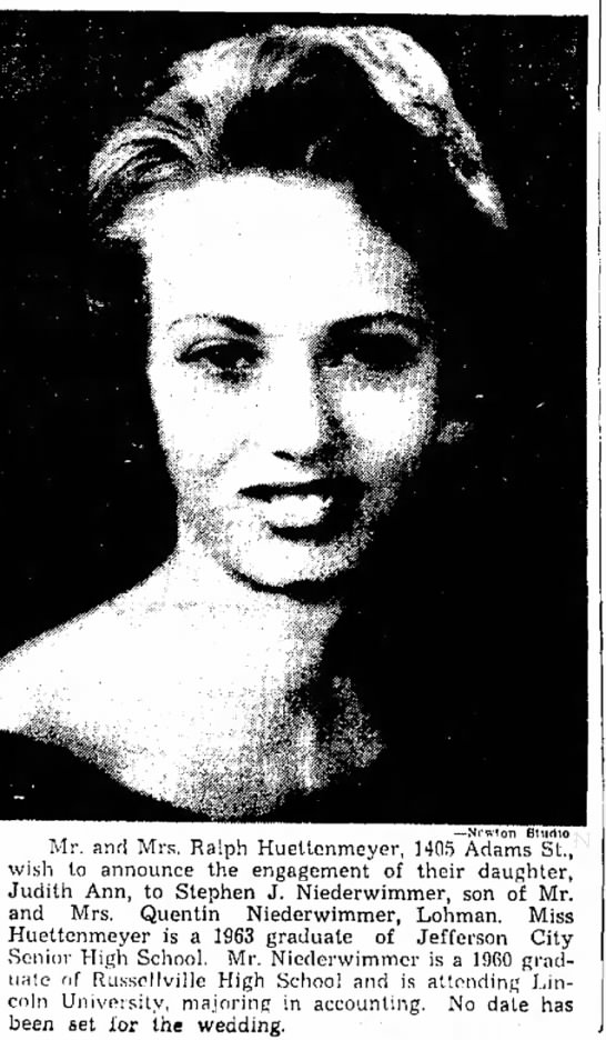 Sunday News and Tribune 8-4-1963 - Dr. -- N r w t o n BUirtto Mr. and Mrs. Ralph...
