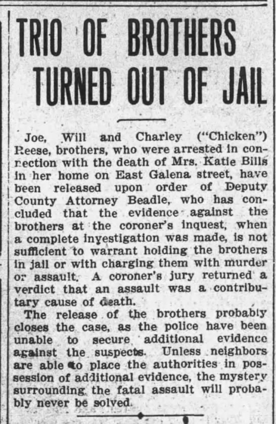 Kate Dwyer - OF TURNED OUT OF JAIL ' Joe, .Will and Charley...