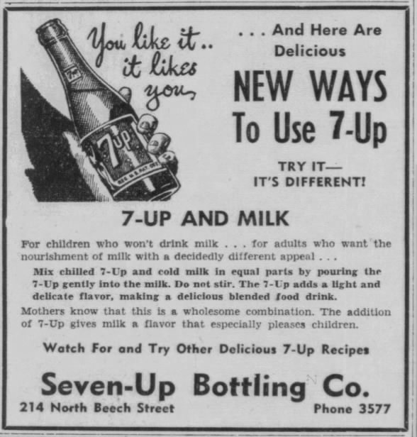 7-Up and Milk ad