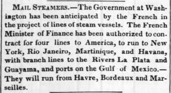 Guayama mail steamers - Mail Steamers. The Government at Wash-iagton...