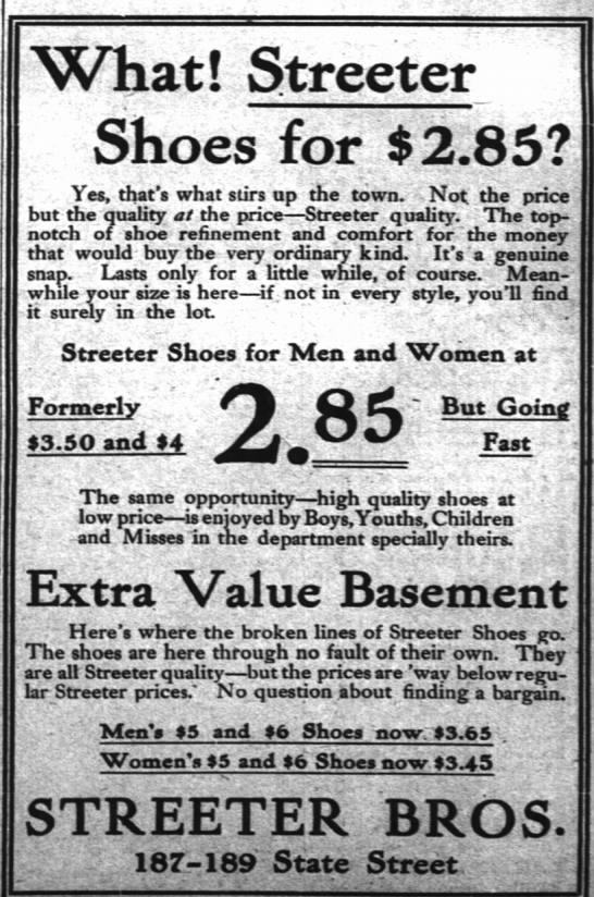 Streeter's Shoes Ad1