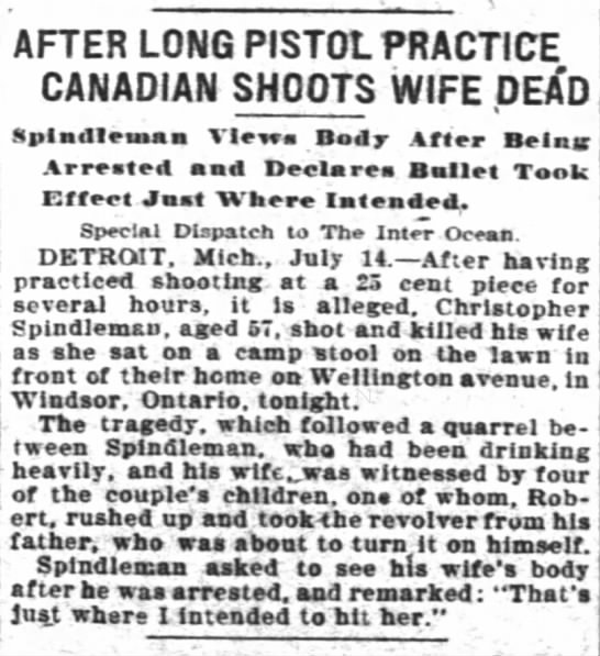 Christopher Spindleman - AFTER LONG PISTOL PRACTICE CANADIAN SHOOTS WIFE...