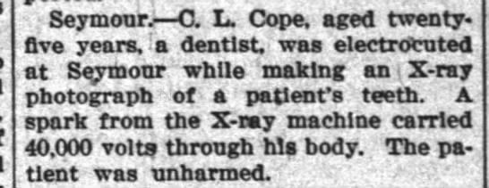 The Waterloo Press (Waterloo, IN) 7 29 1920 pg 7 - Seymour. C L. Cope, aged twenty- twenty- five...