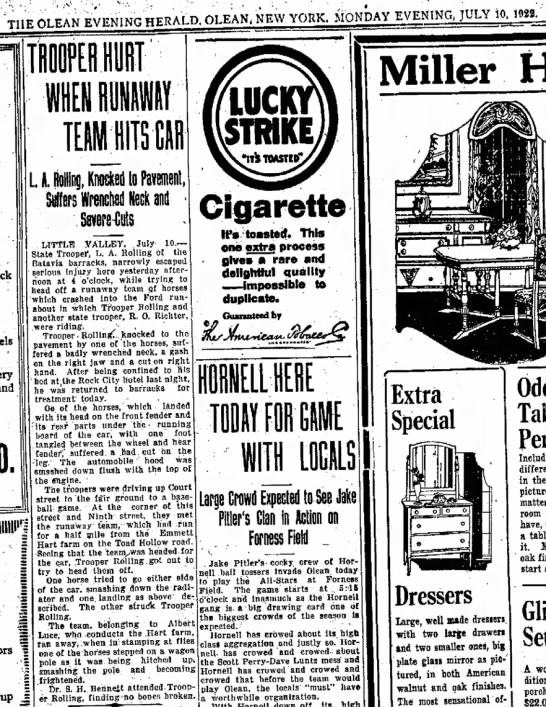 - THE n i t A N EVENING HERALD. OLEAN, NEW YORK....