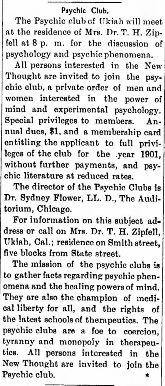 - Psychic Club. The Psychic club of [fkiah will...