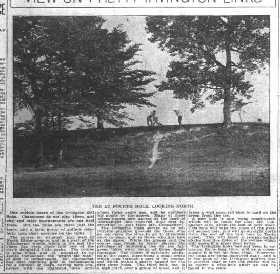 Irvington Golf Course - V run of yester- throat- ninety-five the frac-...