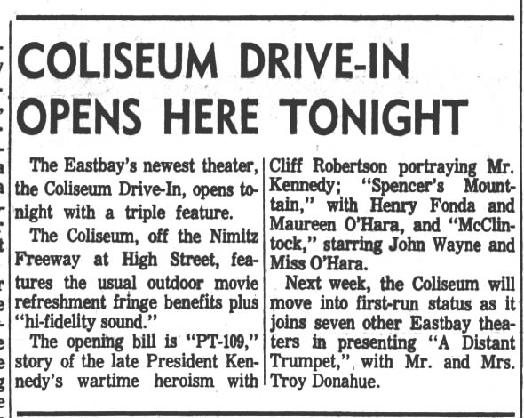 Coliseum Drive-In opening