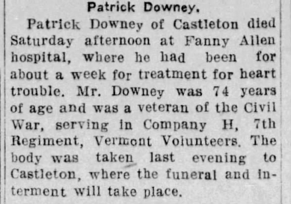 Obituary for Patrick Downey (Aged 74)