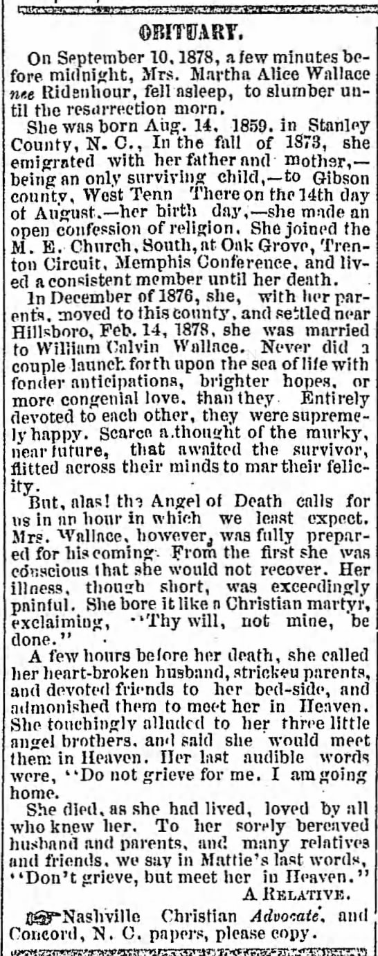 - OBITUARY. On September 10. 1878, a few minutes...