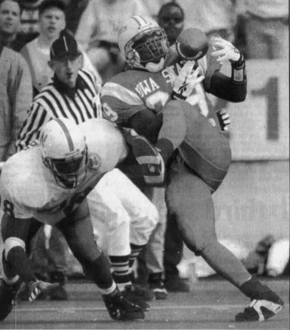 1994 Nebraska-Iowa State interception photo