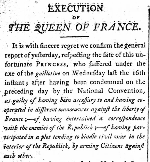 Execution of the Queen of France