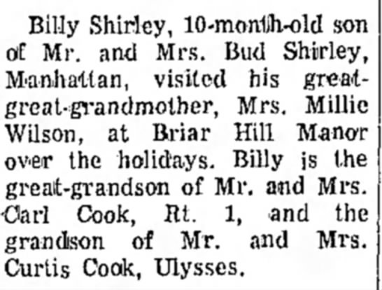 - Billy Shirley, 10-monUh-old son of Mr. and Mrs....
