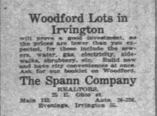 - Woodford Lrots in Irvington .. wiil prtrr a...