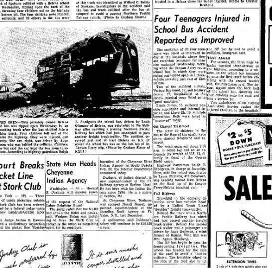 bus accident 11 feb 1960