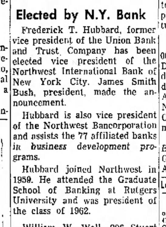 James Smith Bush-Bank Pres.-Independent Record, Helena, MT-p.9-9 aug 1964