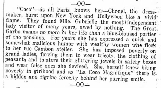 "Chanel-4b - --00-""Coco""--as --00-""Coco""--as all Paris knows..."