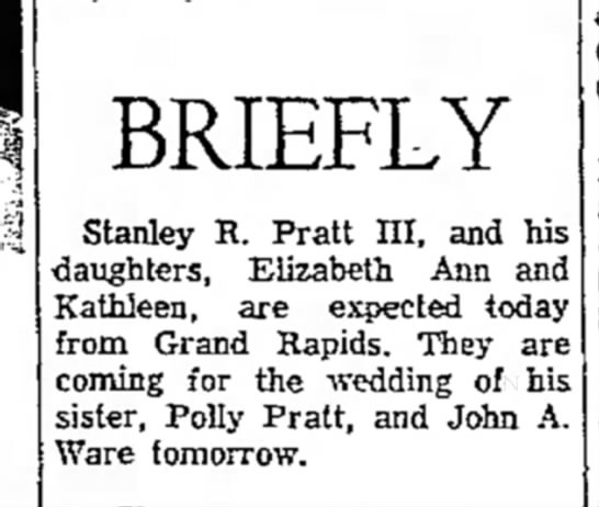 the evening news_sault ste. marie mi_29Dec1966_pg6 - BRIEFLY Stanley R. Pratt III, and his...