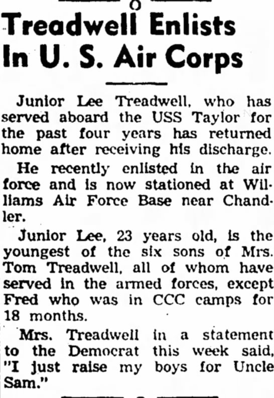 Junior Lee Treadwell