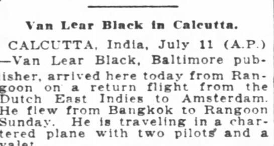 V. L. Black in Calcutta. - Van Lear Black In Calcutta. CALCUTTA. India....