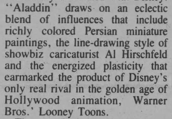 Aladdin art influences