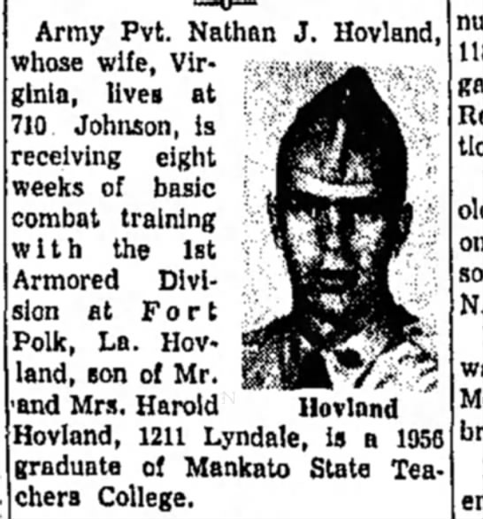 - Army Pvt. Nathan J. Hovland, whose wife,...