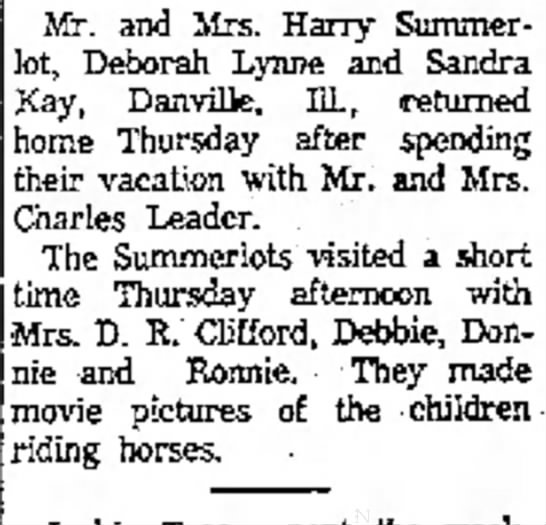 Summerlot's Danville, IL - Mr. and Mrs. Harry Summerlot, Summerlot,...