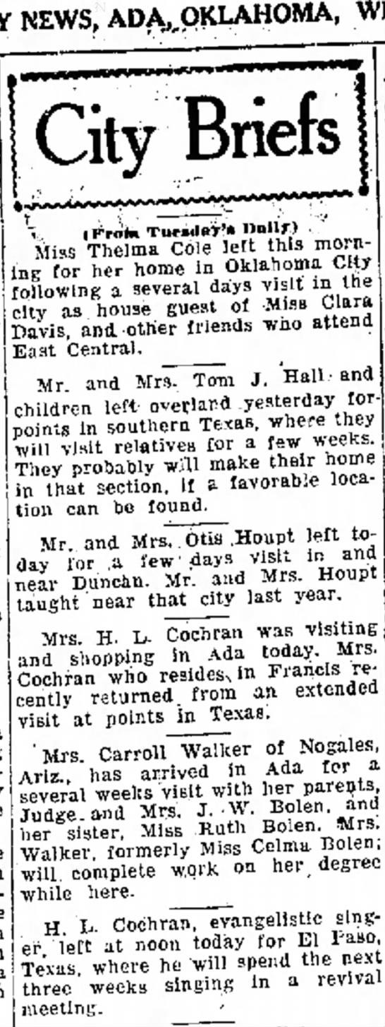 June 6, 1928Ada, OK