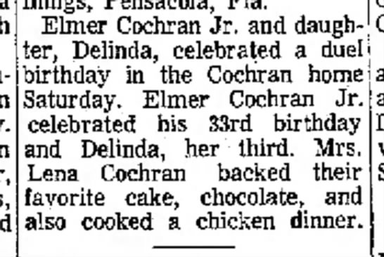 Cochran_Elmer_E_Jr-Cochran_Delinda-1969_08_21-The_Ada_Weekly_News-Ada_Oklahoma - Elmer Cochran Jr. and daugh- ;er, Delinda,...
