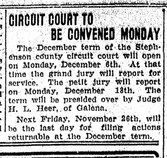 - CIRGOIT COURT TO BE CONVENED MONDAY The...