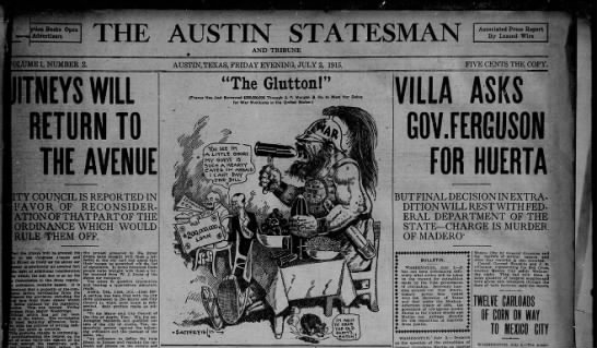 Early issue of the combined Austin Statesman and Tribune - ption Books Open Advertisers TH AUSTIN STATES...