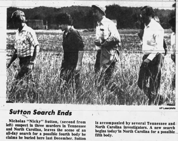 Nick Sutton takes authorities on searches for bodies.