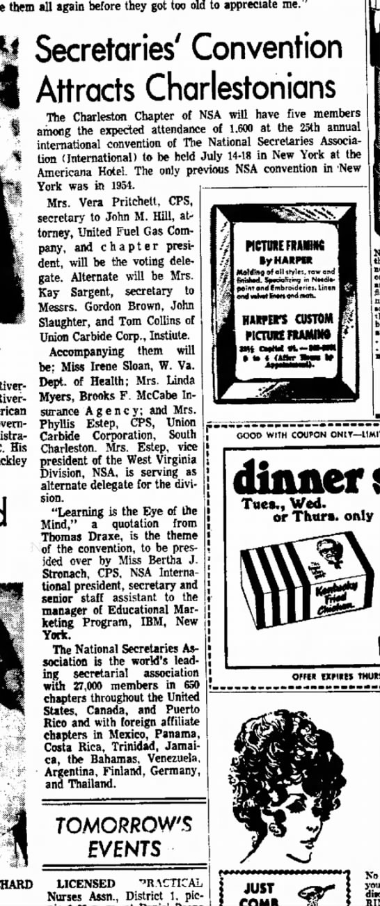 The Charleston Daily Mail, 13 July 1980, Page 5, Secreteries; Convention Attracts Charlestonians - them all again before they got too old to...