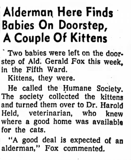Freeport Journal-Standard, Freeport, Illinois - 10 May 1955, page 4. - Alderman Here Finds Babies On Doorstep, A...