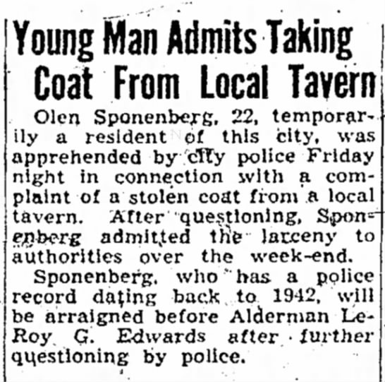 """Sponenberg, Olen - have sighed 12-year"""" i52Q Bob's Trial Young..."""