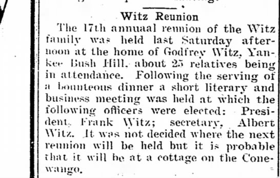 - Witz Reunion The 17th annuaal reunion of the f...