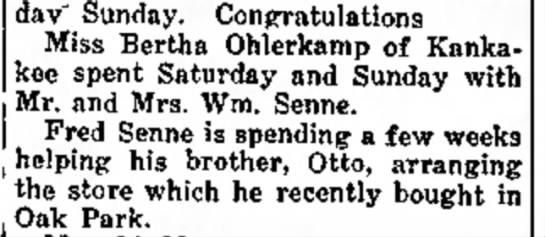 "Senne/Olhenkamp - days in dav"" Sunday. Congratulations Miss..."