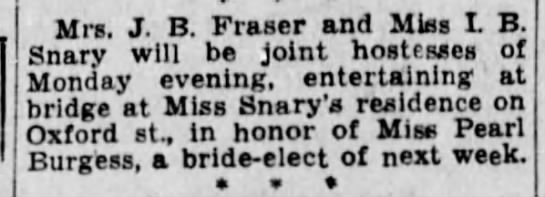 Winnipeg Tribune, 19 Aug 1933, Page 9, Society.