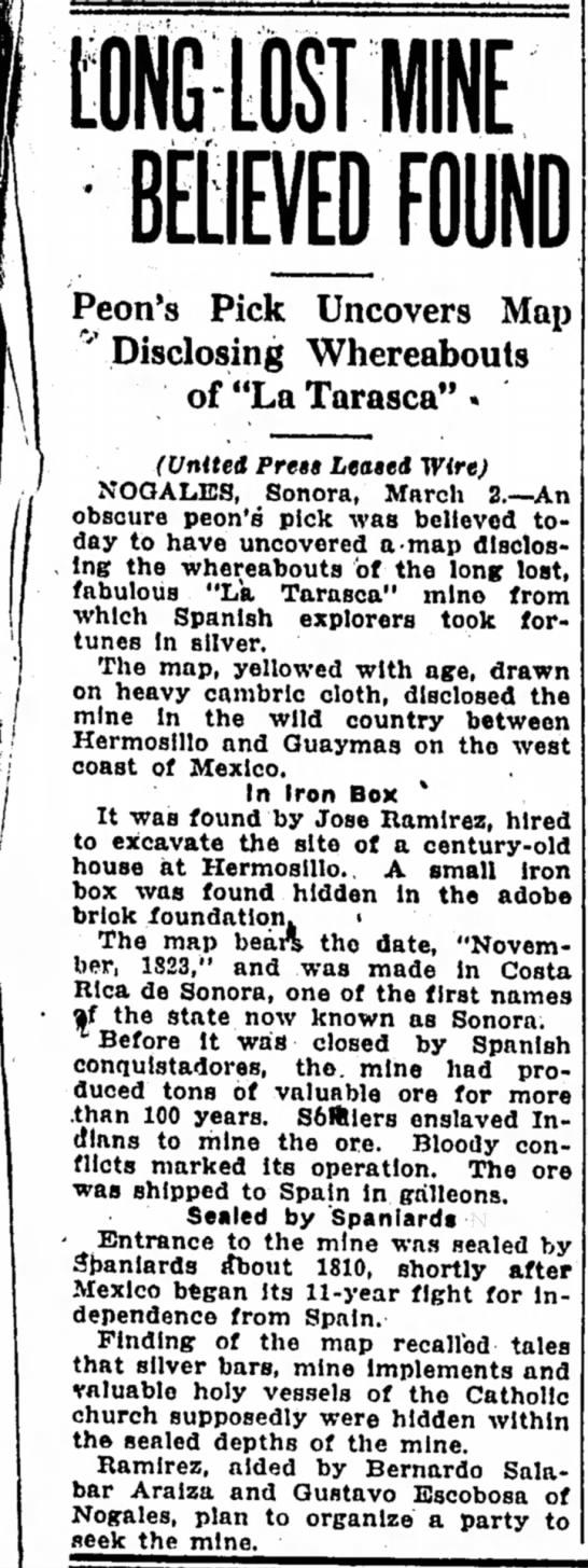 LA TARASCA 1933-1810 MAPA - Peon's Pick Uncovers Map ' Disclosing...