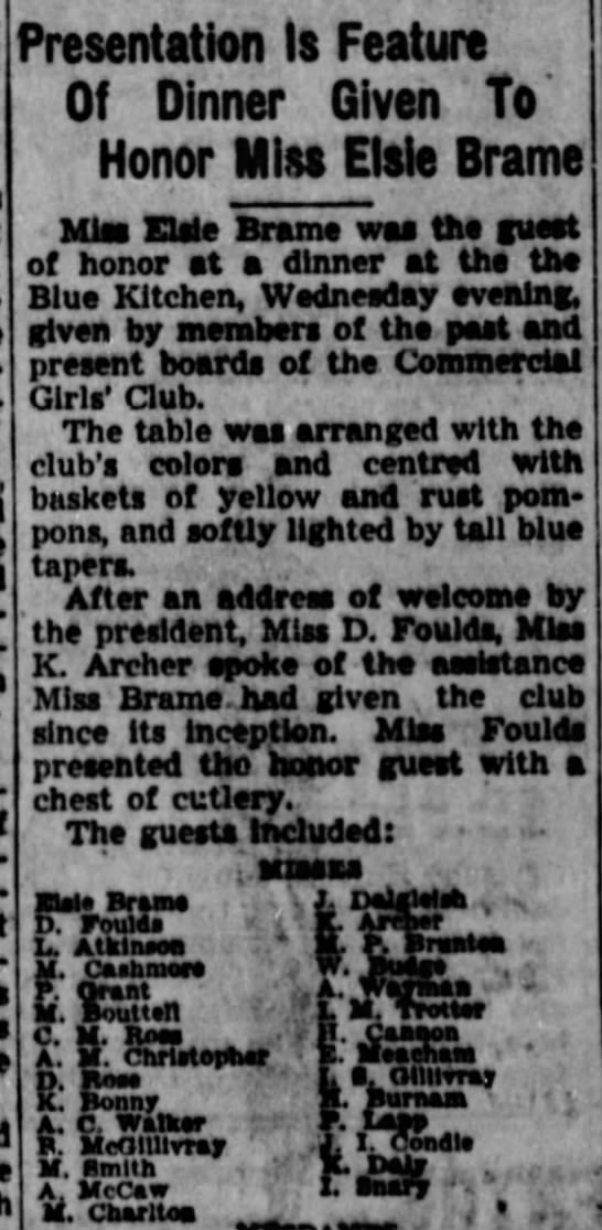 Winnipeg Tribune, 29 Nov 1935, Page 11, - Presentation ts Feature Of Dinner Given To...