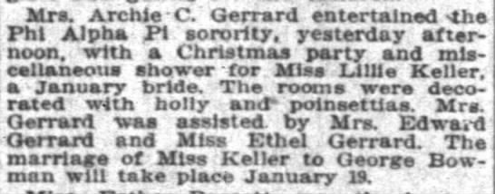 - Mrs. Archie C. Gerrard entertained - the Phi...