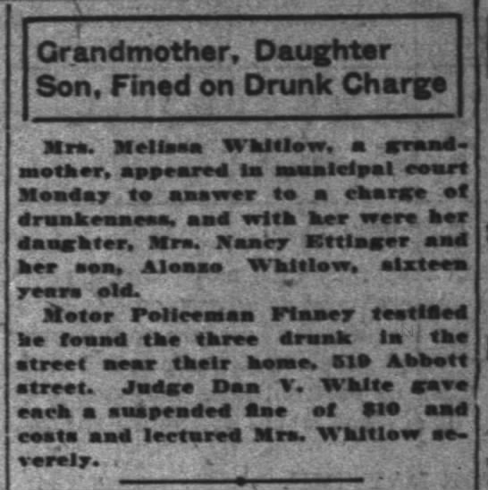 - Grandmother, Daughter Son, Fined on Drunk...