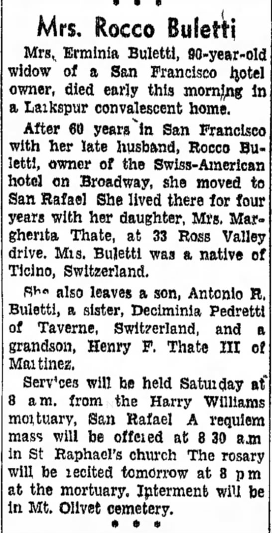 Erminia Buletti Obit - In- National died at was is son, Catholic Mrs....