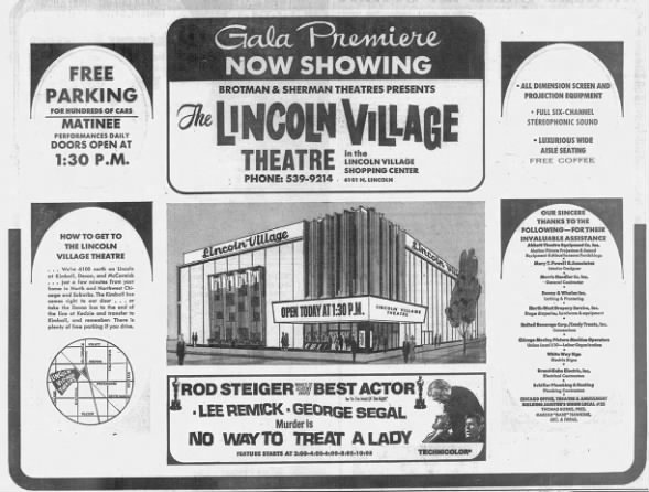 Lincoln Village theatre opening