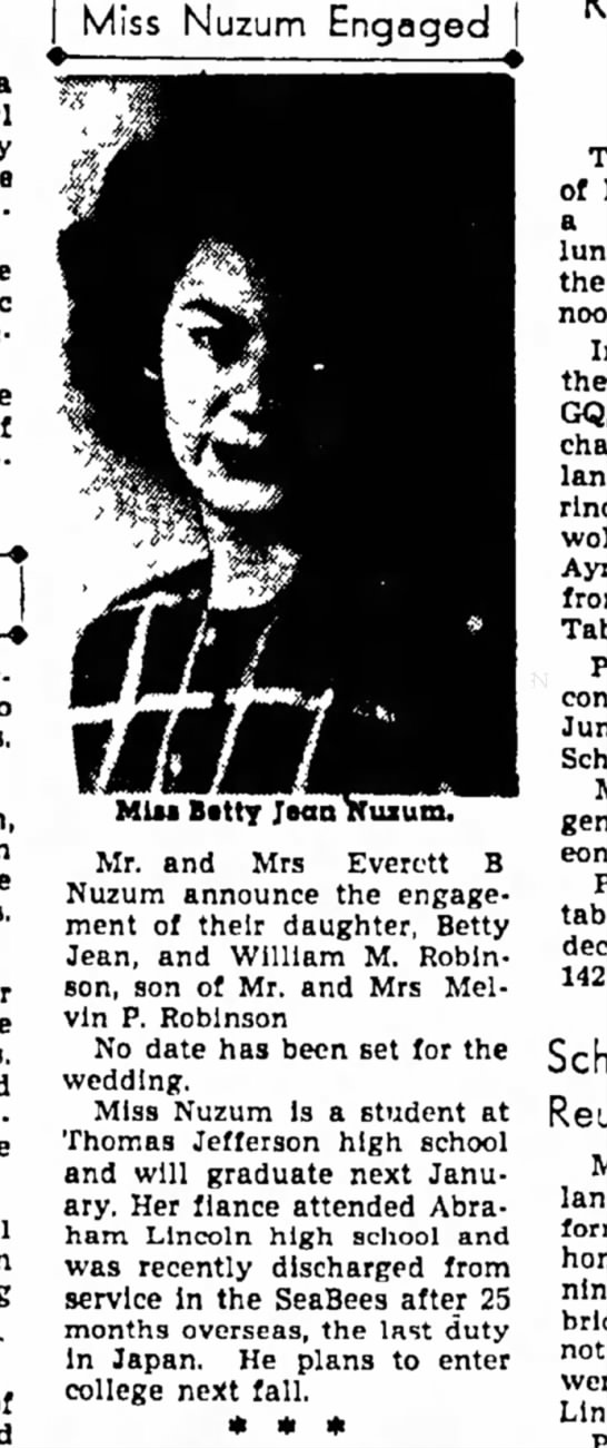 - Miss Nuzum Engaged home of Orleans to Mrs. son,...