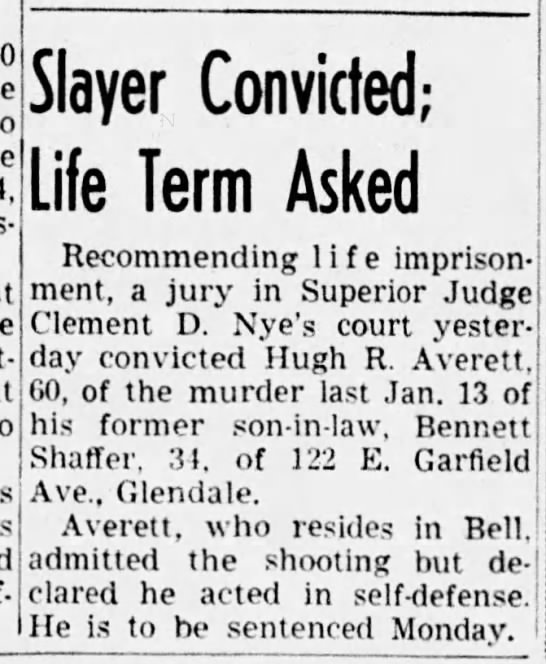 - self-defense. Slayer Convicted; Life Term Asked...