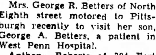 lela motored - Mrs. George R. Betters of Eighth street motored...