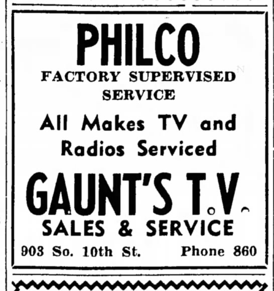 - PHILCO FACTORY SUPERVISED SERVICE All Makes TV...
