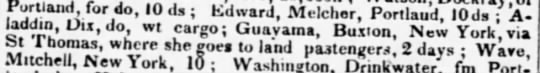 Guayama trade March 1837 - D ., . r j . Portland, for dn IO rl. . L.' .1 1...